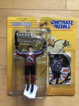 Joe Sakic with Stanley Cup Starting Lineup SLU 1998 Colorado