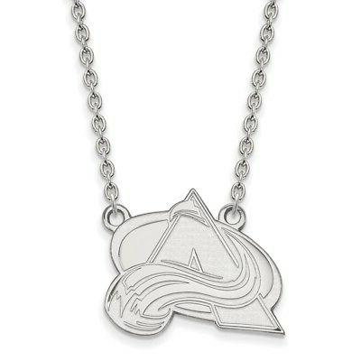 sterling silver nhl colorado avalanche large pendant