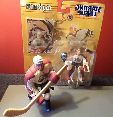 2 hockey figures colorado avalanche roy