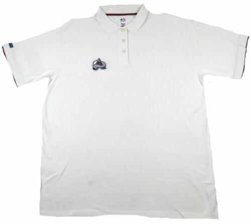 Big & Tall Men's Colorado Avalanche Polo Shirt Cotton Pique