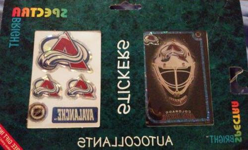 colorado avalanche 2 pack auto decals nhl