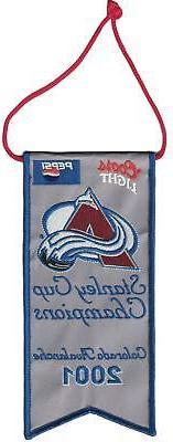 Colorado Avalanche 2001 Mini Stanley Cup Champions Banner 27