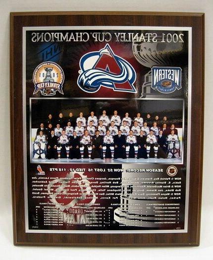 colorado avalanche 2001 stanley cup champions plaque