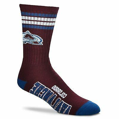 colorado avalanche 4 stripe deuce socks