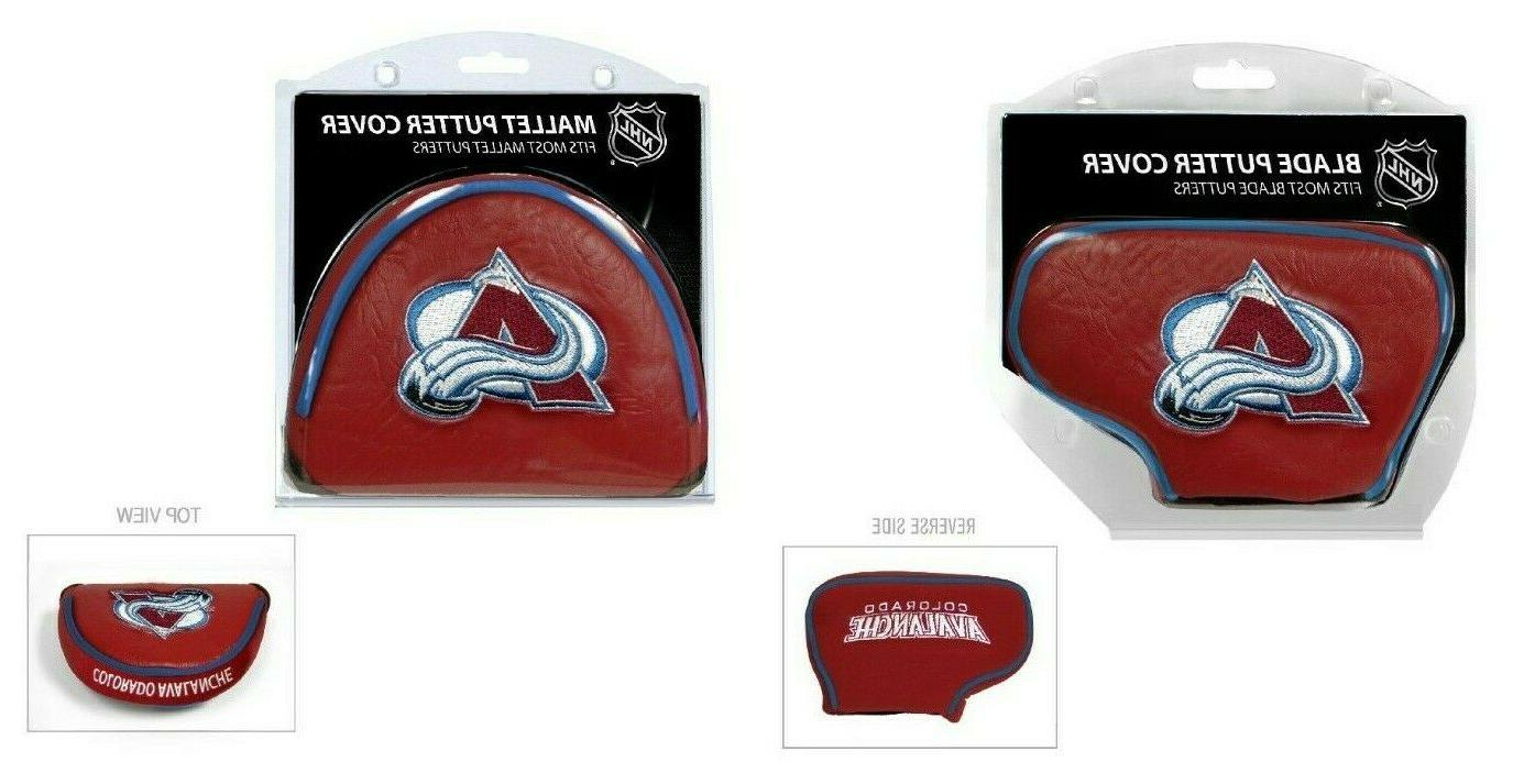 colorado avalanche blade or mallet putter golf