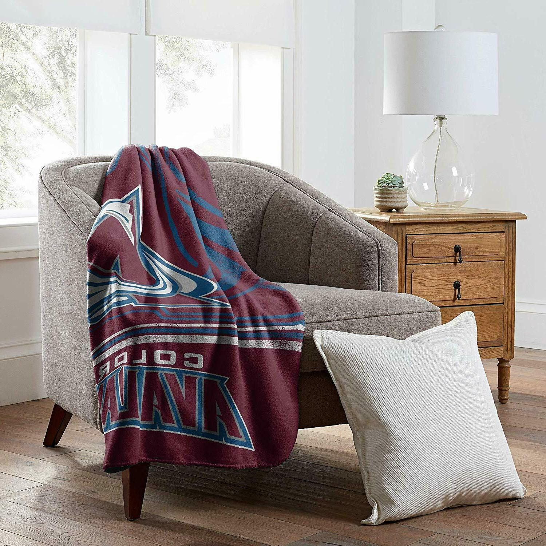 colorado avalanche fleece blanket new