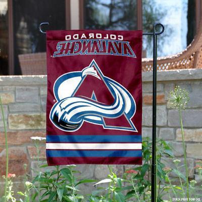 colorado avalanche garden flag and yard banner