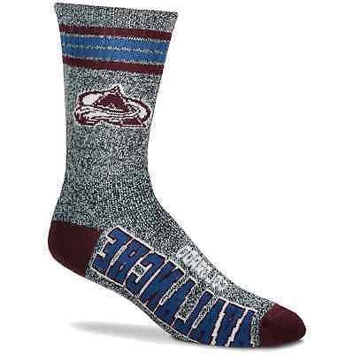 colorado avalanche got marble crew socks gray