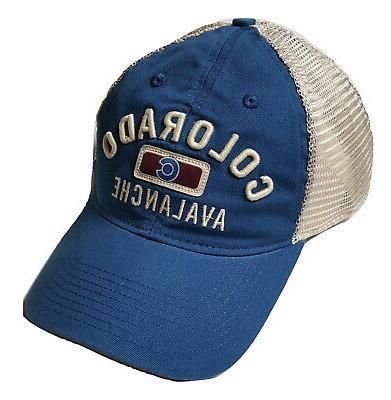 colorado avalanche hat slouch mesh adjustable snapback