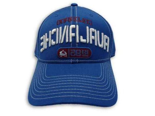 colorado avalanche nhl 1995 structured adjustable hat
