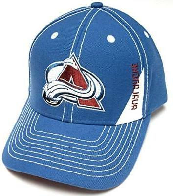 colorado avalanche nhl blue stitched structured hat