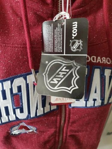 Colorado NHL FULL ZIP Sweater Medium New!