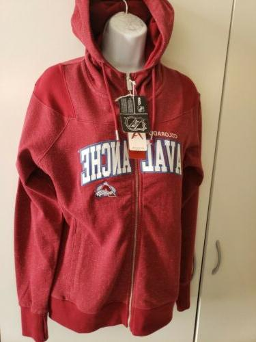 colorado avalanche nhl full zip hoodie sweater