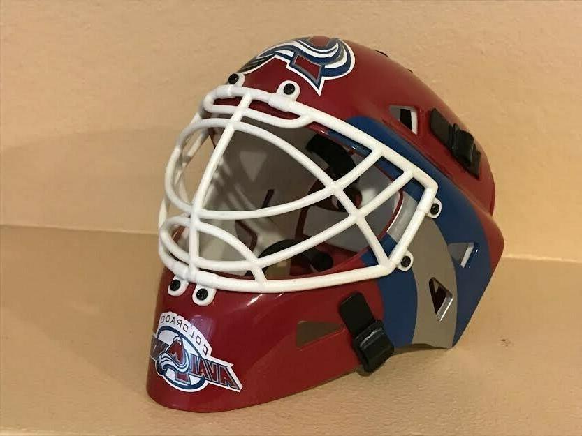 colorado avalanche nhl hockey mini goalie helmet