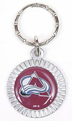 colorado avalanche nhl keychain and keyring circle