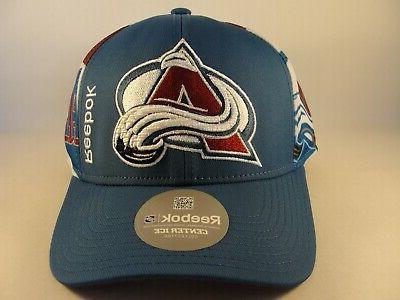 Colorado Avalanche NHL Snapback Hat Burgundy White