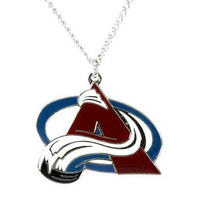 colorado avalanche pendant necklace nhl