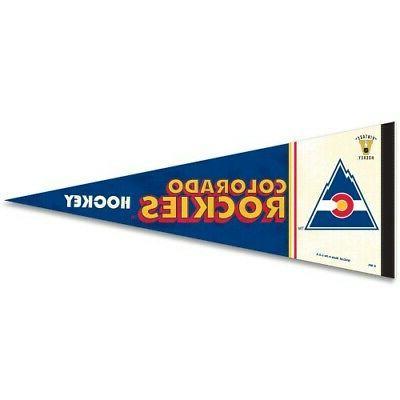 colorado avalanche premium quality pennant 12 x30