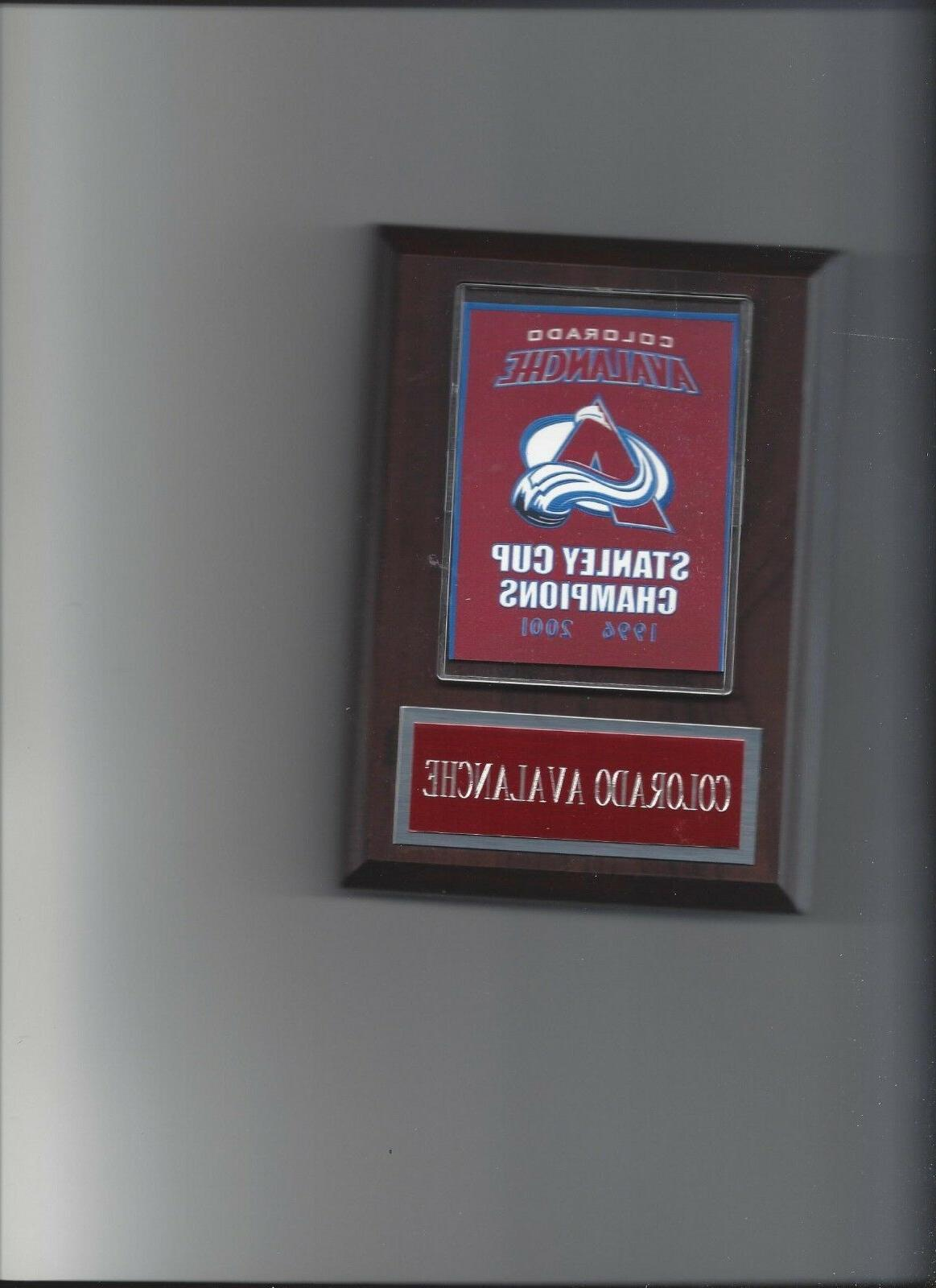 colorado avalanche stanley cup banner plaque champs