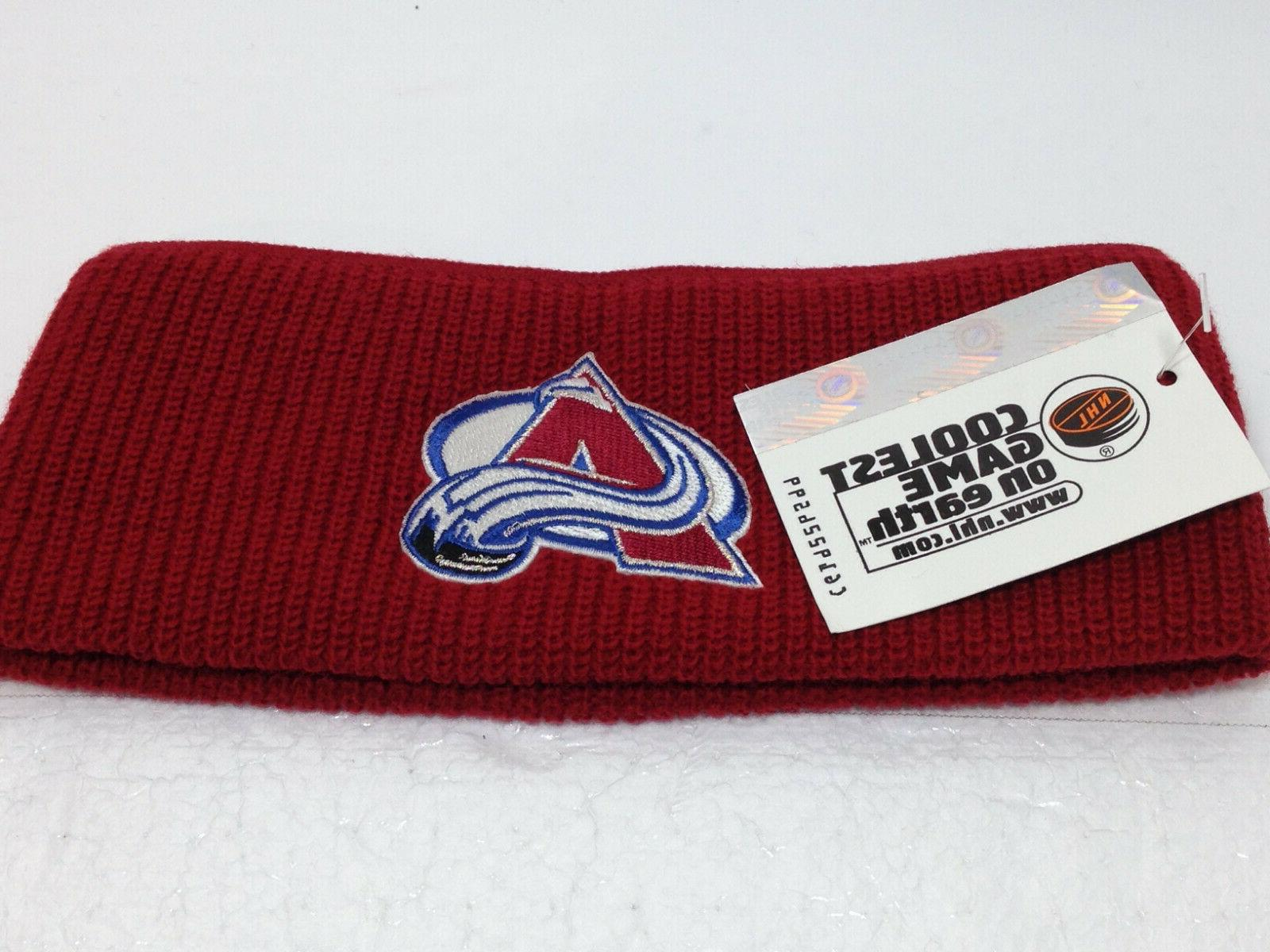colorado avalanche vintage 1999 embroidered headband new