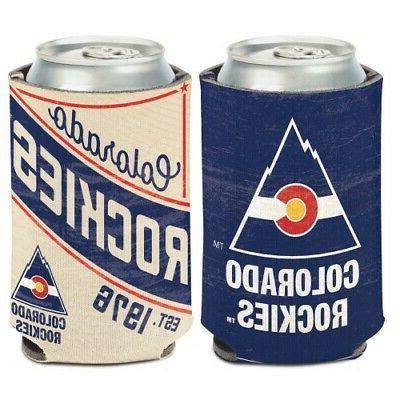 colorado avalanche vintage style neoprene can cooler
