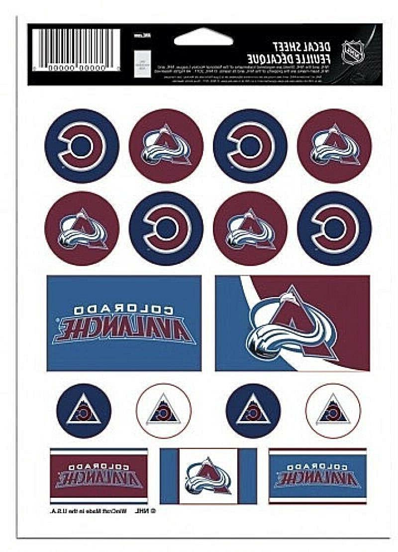 colorado avalanche vinyl die cut sticker set