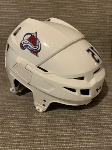 Colorado White Vector Stock Hockey Helmet