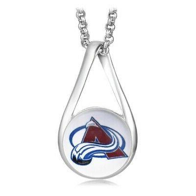 colorado avalanche womens 925 silver link necklace