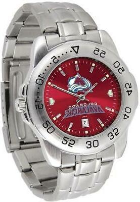 gametime colorado avalanche sport steel watch