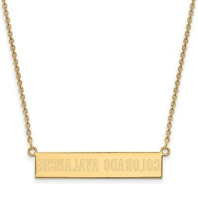 gold plated sterling silver colorado avalanche small