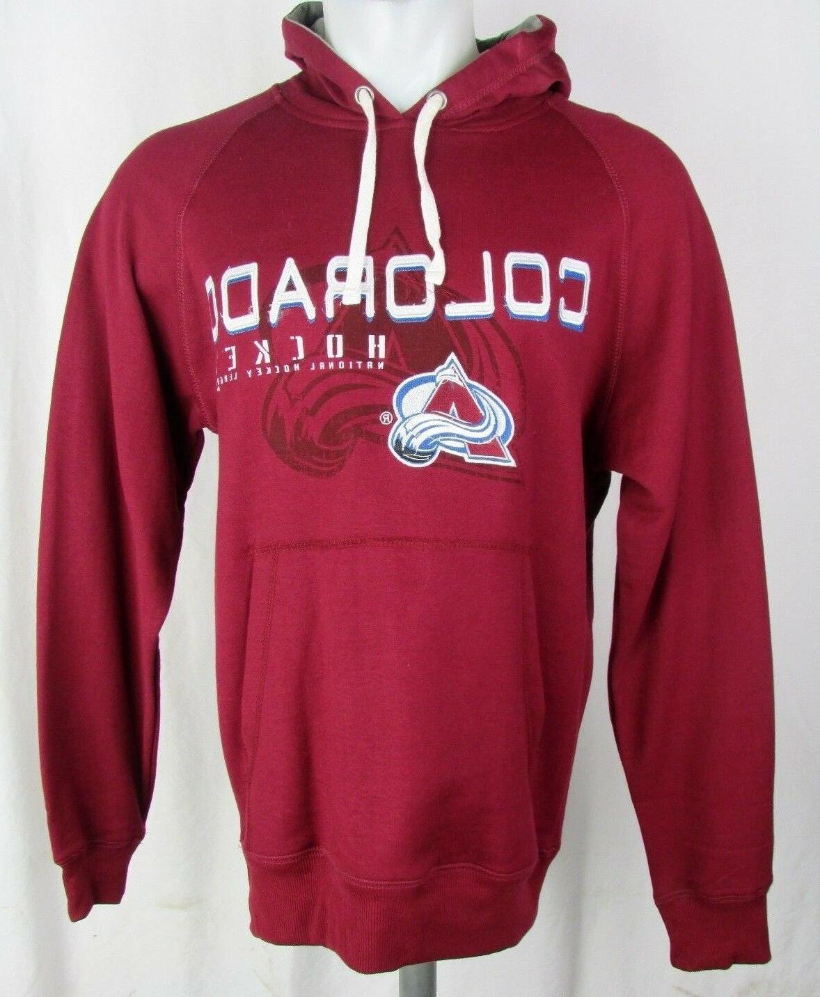 men s colorado avalanche maroon hoodie g