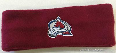 nhl colorado avalanche fleece headband ear warmer