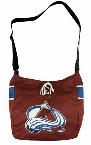 nhl colorado avalanche laces jersey tote bag