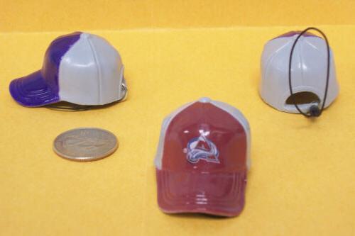 nhl colorado avalanche mini cap danglers retired