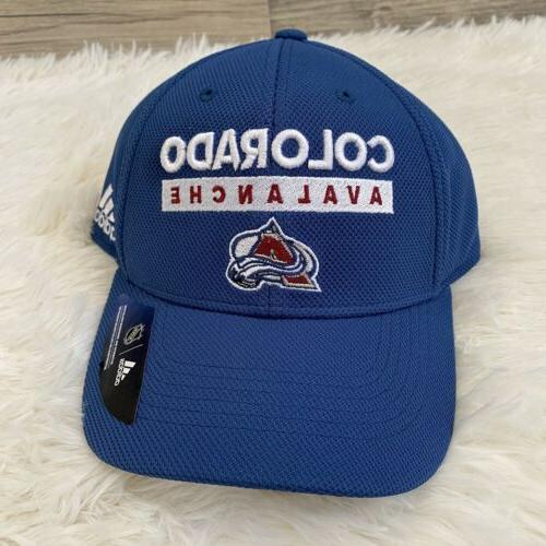 Adidas Hat Avalanche Baseball Cap Blue Sport Fan Hockey