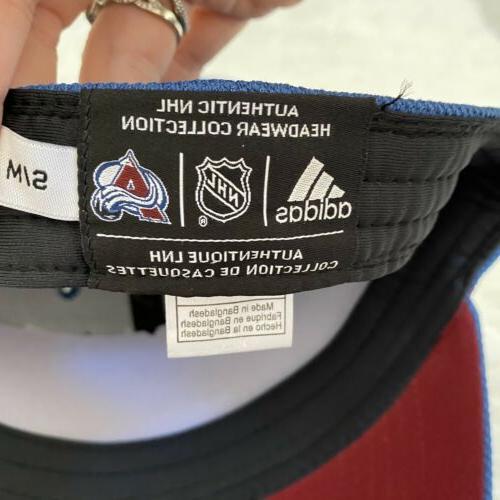 Adidas Hat Colorado Avalanche Flex Fit Cap Blue Sport Hockey