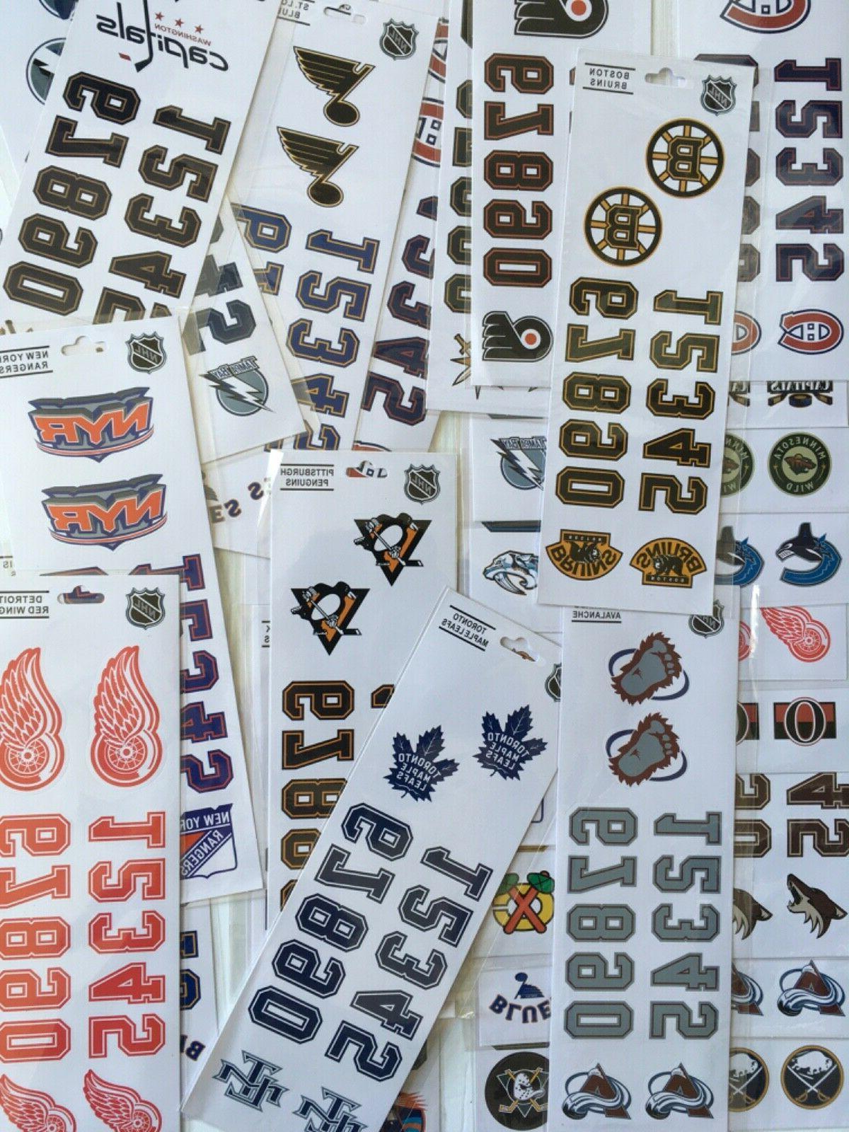 nhl hockey helmet decal sticker choose your