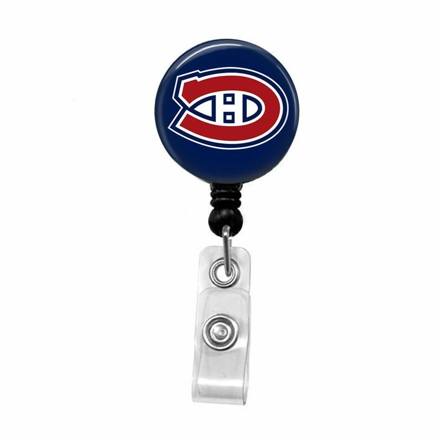 nhl hockey pick your team retractable badge