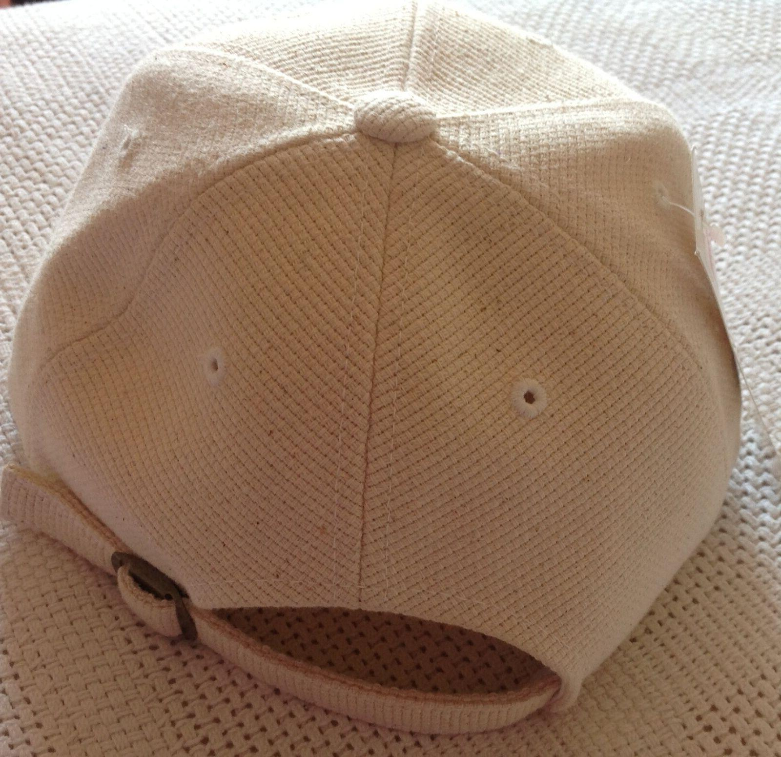 NWT, NHL Colorado cap, stretch hat, cream/brown,embroidered