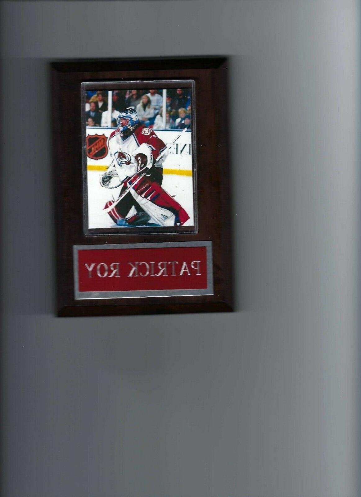 patrick roy plaque colorado avalanche hockey nhl