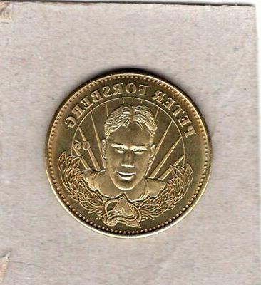 peter forsberg 1996 1997 brass coin mint