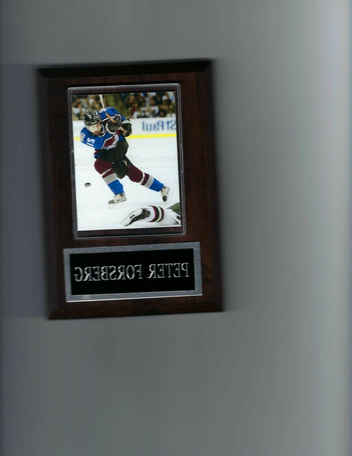 peter forsberg plaque colorado avalanche hockey nhl