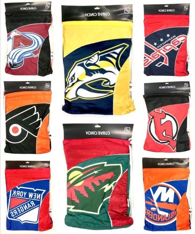 premium team color curve cinch bag drawstring