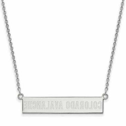 ss colorado avalanche small bar necklace