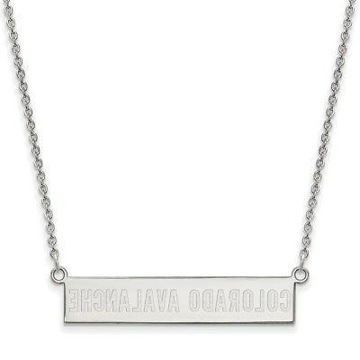 sterling silver colorado avalanche small bar necklace