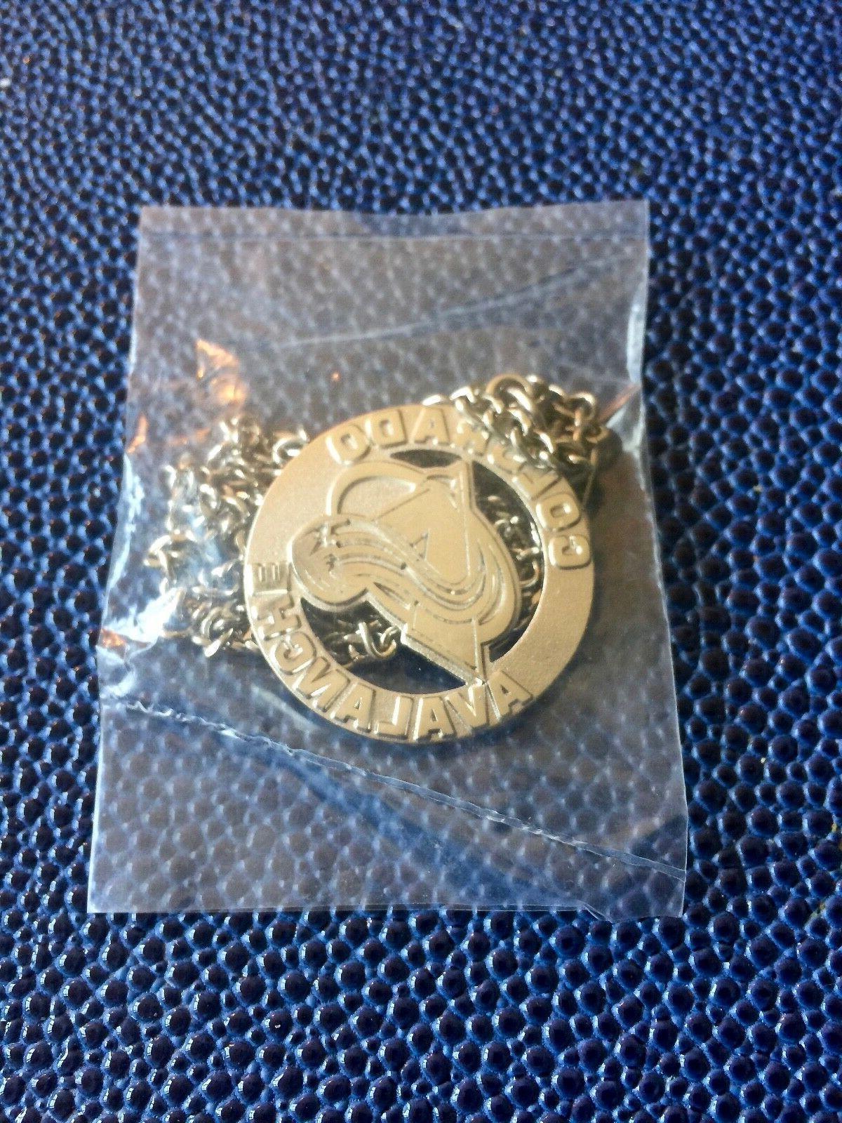 vintage nhl colorado avalanche hockey jewelry silver