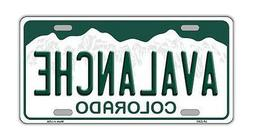 Metal Vanity License Plate Tag Cover - Colorado Avalanche -