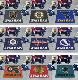 NHL Area Rugs Man Cave 5 x 6 Tailgater Fanmats Choose Your T