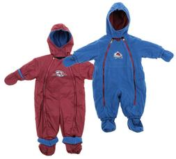 NHL Baby Infant Colorado Avalanche Hooded Reversible Snowsui
