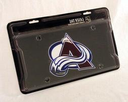 NHL Colorado Avalanche Black Base Laser Cut Auto Tag